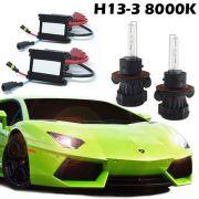 Kit Bi Xenon Hid Carro Farol Reator 12V Lâmpada 35W H13-3 8000K Baixa e Alta