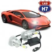 Kit Par Lâmpada Super Led Automotiva Farol Carro 3D H7 8000 Lumens 12V 24V 6000K