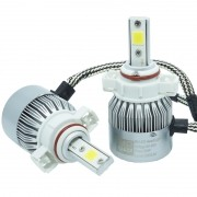 Kit Par Lâmpada Super Led Automotiva Farol Carro H16 10000Lm 12/24V Guzz 6000K