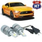 Kit Par Lâmpada Super Led Automotiva Farol Carro H7 10000 Lumens 12/24V 6000K