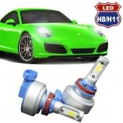 Kit Par Lâmpada Super Led Automotiva Plug Original Farol Carro H8 H11 9000Lm 12/24V 6000K