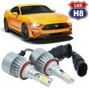 Kit Par Lâmpada Super Led Automotivo Farol Carro Caminhão H8 10000 Lumens M9C 12V 24V 6000K
