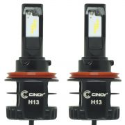 Kit Par Lâmpada Super Ultra Led Plus Automotiva H13 Bi 12000 Lumens 6500K Cinoy YN-L13P0697