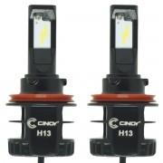 Kit Par Lâmpada Super Ultra Led Plus Automotiva H13 Bi 12000 Lumens 6500K Cinoy YN-L13P0697