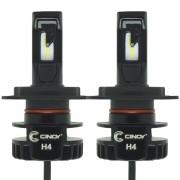 Kit Par Lâmpada Super Ultra Led Plus Automotiva H4 Bi 12000 Lumens 6500K Cinoy YN-LSLH4P