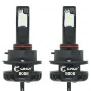 Kit Par Lâmpada Super Ultra Led Plus Automotiva Hb4 9006 Hb3 9005 12000 Lumens 6500K Cinoy