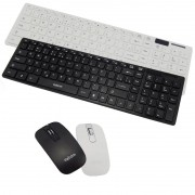 Kit Teclado + Mouse Sem Fio Wireless Usb Exbom BK-S1000 com Capa de Silicone