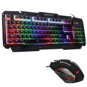 Kit Teclado Semi Mecânico + Mouse Gamer Profissional Usb Abnt2 Led Metal BK-G200 V19 Tiger X Preto