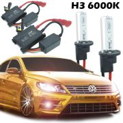 Kit Xenon Automotivo Hid H3 6000K Carro Farol Par Lâmpadas 12V 35W Milha