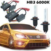 Kit Xenon Automotivo Hid HB3 9005 6000K Carro Farol Par Lâmpadas 12V 35W Milha