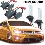 Kit Xenon Automotivo Hid HB4 9006 6000K Carro Farol Par Lâmpadas 12V 35W Milha