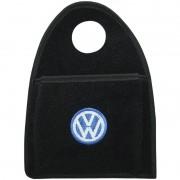 Lixeira Lixinho Automotiva Carro Carpete Logo Bordado Vw Volkswagem para Câmbio Preta