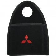 Lixeira Lixinho Automotiva Carro Carpete Logo Bordado Mitsubishi para Câmbio Preta