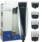 Máquina de Cortar Cabelo Aparar Barba Pezinho Elétrica 110V Fort Home FH-4610 Prata/Preta