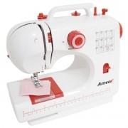 Máquina de Costura Elétrica Portátil 12 Pontos com Pedal Luz Led Alça Compacta Bivolt Amvox AMQ 012