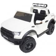 Mini Carro Caminhonete Elétrico Infantil Criança 24V Ford Raptor Controle Branca Brinqway BW-121