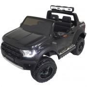 Mini Carro Caminhonete Elétrico Infantil Criança 24V Ford Raptor Controle Preta Brinqway BW-121