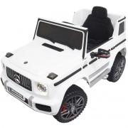 Mini Carro Elétrico Infantil Criança 12V Mercedes G63 Amg Controle Remoto Branco Brinqway BW-124