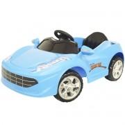 Mini Carro Elétrico Infantil Criança 6V com Controle Remoto Azul Brinqway BW-097VAZ Bivolt