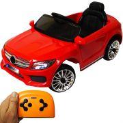 Mini Carro Elétrico Infantil Criança 6V com Controle Remoto Importway Mercedes Vermelho BW-007-VM