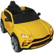 Mini Carro Lamborghini Urus Elétrico Infantil 12V Controle Remoto Luz Som Usb Mp3 Importway Amarelo