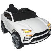 Mini Carro Lamborghini Urus Elétrico Infantil 12V Controle Remoto Luz Som Usb Mp3 Importway Branco