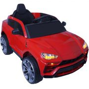 Mini Carro Lamborghini Urus Elétrico Infantil 12V Controle Remoto Luz Som Usb Mp3 Importway Vermelho