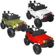 Mini Jipe Elétrico Infantil Criança 12V com Controle Remoto Luz Som Usb Mp3 Carro Importway BW028
