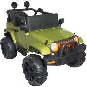 Mini Jipe Elétrico Infantil Criança 12V com Controle Remoto Luz Som Usb Mp3 Carro Importway Verde