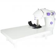 Mini Máquina de Costura Elétrica com Mesa Portátil 2 Velocidades Pedal Luz Bivolt IWMC-507M Branca