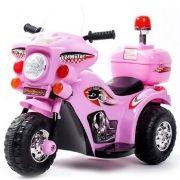 Mini Moto Elétrica Triciclo Criança Infantil 6V Lz Motor BW002-R Rosa