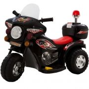 Mini Moto Elétrica Triciclo Criança Infantil 6V Miniway Preta