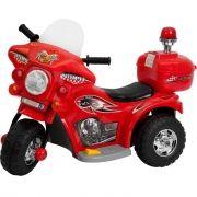 Mini Moto Elétrica Triciclo Criança Infantil 6V Miniway Vermelha