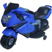 Mini Moto Elétrica Triciclo Criança Infantil Azul Bateria 6V Luz Som Importway BW044 Bivolt