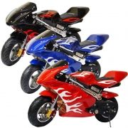 Mini Moto Infantil Gasolina 2 Tempos 49CC Speed Ninja GP Esportiva Pocket Bike Importway WVPR-204