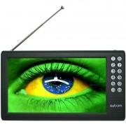 Mini Tv Digital Portátil HD Tela 7.0 Polegadas Usb Sd Rádio Fm Isdb-t Monitor Exbom MTV-70A
