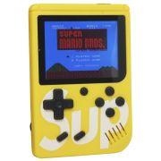 Mini Vídeo Game Portátil de Mão 400 Jogos Retro Clássico 1 Jogador Amarelo SUP 3353 Barato