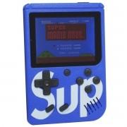 Mini Vídeo Game Portátil de Mão 400 Jogos Retro Clássico 1 Jogador Azul SUP 3353 Barato