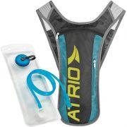 Mochila de Hidratação Térmica + Bolsa de Água 1,5 L Bike Atrio BI052 Sprint Preta Azul