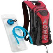 Mochila de Hidratação Térmica + Bolsa de Água 2,0 L Bike Atrio BI020 Adventure Preta Vermelha