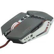 Mouse Óptico Gamer Usb 2400 Dpi 6 Botões Led Rgb 4 Cores Cabo Infokit X Soldado GM-705 Cinza