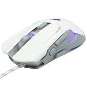 Mouse Óptico Gamer Usb 3200 Dpi 7 Botões Led Rgb 7 Cores Cabo Infokit X Soldado GM-720 2547 Branco