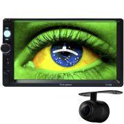Multimídia Mp5 Automotivo 2 Din Tela 7.0 First Option MP5-7010B Fm Usb Aux Bluetooth Câmera de Ré