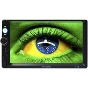 Multimídia Mp5 Vídeo Player Automotivo 2 Din Tela 7.0 First Option MP5-7010B Fm Usb Aux Bluetooth