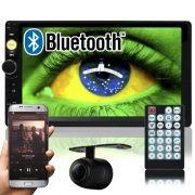 Multimídia Mp5 Vídeo Player Automotivo 2 Din Tela 7.0 Knup Som Fm Usb Sd Aux Bluetooth Câmera de Ré