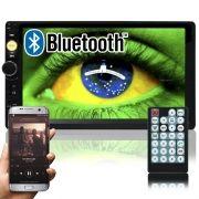 Multimídia Mp5 Vídeo Player Bluetooth Automotivo 2 Din Tela 7.0 Knup KP-C19 Som Fm Usb Sd Aux