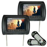 Par Encosto Cabeça Tela Monitor Leitor Dvd Tech One Standard Preto
