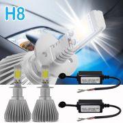 Par Lâmpada Super Led 4400 Lumens 12V 24V H8 6000K