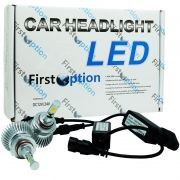 Kit Par Lâmpada Super Led Automotiva Farol Carro HB4 9006 6000 Lumens 12V 24V First Option 6000K