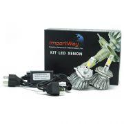 Par Lâmpada Super Led 6000 Lumens 12V 24V 40W Importway H4 (Bi) 6000K